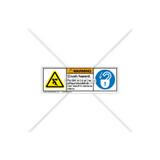 Warning/Crush Hazard Label (C1169-08)