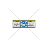 Caution/Electrical Lockout Here Label (BTH6011-633CHTU)