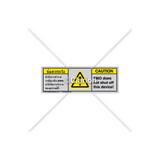 Caution/Emo Does Not Shut Off Label (BTH6014-EXEHTU)