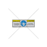 Caution/Pneumatic Lockout Here Label (BTH6143-632CHTU)
