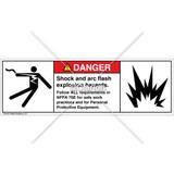 Danger/Shock and Arc Flash Label (5025/6006-263DHBU)