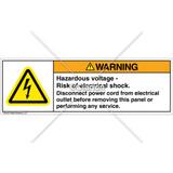 Warning/Hazardous Voltage Label (H6010-AU3WHPU)