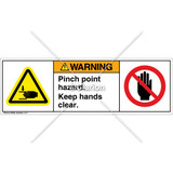 Warning/Pinch Point Hazard Label (H1105/6008-G3WHPU)