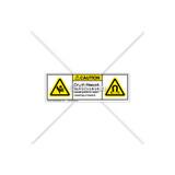 Caution/Crush Hazard Label (H1017/6048-235CHPU)