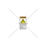 Warning/Shock Hazard Label (H6010-VMWVP-U7)