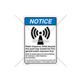 Notice/Radio Frequency Fields Label (6027-371NVBR5)