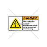 Warning/Electrocution Hazard Label (H6010-201WHRJ)