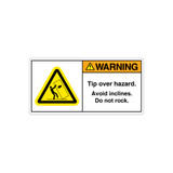 Warning/Tip Over Hazard Label (68-04728)
