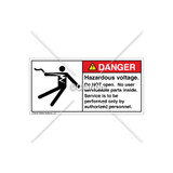 Danger/Hazardous Voltage Label (5025-GBDHRK Wht)