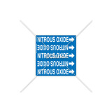 NITROUS OXIDE - Pipe OD  3/8 in. to 3/4 in. Label (PSMG-PE3BP1A)