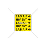LAB AIR - Pipe OD  3/8 in. to 3/4 in. Label (PSMG-PS9YP1A)