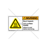 Warning/Burn Hazard Label (H6043-TMWHRJ)