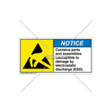 Notice/Contains Parts And Assemblies Label (H6131-C02NHAL)