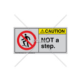 Caution/Not A Step Label (H5080-470CHTJ)