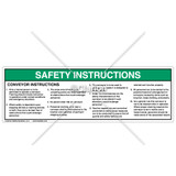 Safety Instructions/Conveyor Label (22-964 Rev. 12-03H)