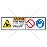 Warning/Crush Hazard Label (HMS-M7WHP-60)