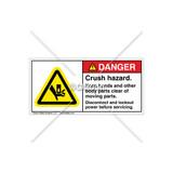 Danger/Crush Hazard Above Label (H1017-472DHPJ)