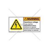 Warning/Hazardous Voltage Label (H6010-AHWHPJ)