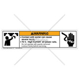 Warning/Contact with Sorter Label (8195-03WHP-W6)