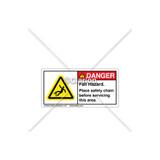 Danger/Fall Hazard Label (C28673-04)