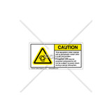 Caution/Auto Restart Label (H6045-C73EHPK)