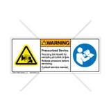 Warning/Pressurized Device abel (USN-52201-004)