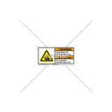 Warning/Compressed Air Label (C7406-07)
