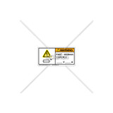 Warning/Fast-5X20 Mm Label (C7406-02)