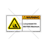 Warning/Compressed Air Label (H4005-Y22WHPL)
