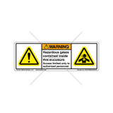 Warning/Hazardous Gases Label (H6014/4006-65WHPU)