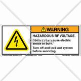 Warning/Hazardous Voltage Label (10008750-00)