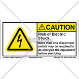 Caution/Risk of Electric Shock (H6010-518CHPK)