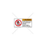Warning/Slips And Falls Do NOT Step Label (H5080-350WHPJ)