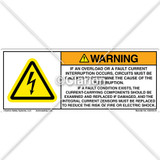 Warning Overload Label (C26109-01)