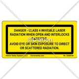 Danger/Class 4 Invisible Laser (C8399-04)