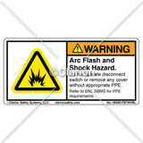 Warning/Arc Flash And Shock (H6006-FB7WHBL)