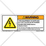 Warning/This Equipment is Supplied (C4052-40)