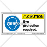 Caution/Eye Protection Required (H6031-NWCHPK)