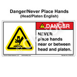 Danger/Never Place Hands (C31673-01)
