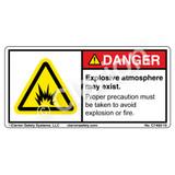 Danger/Explosive Atmosphere Label (C7400-10)