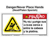 Danger/Never Place Hands (C31673-03)