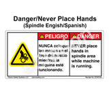 Danger/Never Place Hand (C31673-05)