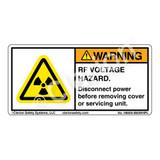 Warning/RF Voltage Hazard (H6005-B83WHPL)
