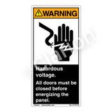 Warning/Hazardous Voltage (C7137-03)