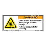 Warning/Laser Hazard (C3889-02)