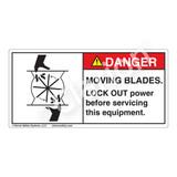 Danger/Moving Blades Label (1028-J9DH)
