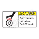 Caution/Burn Hazard Label (1032-JKCHT)