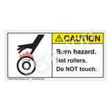 Caution/Burn Hazard Label (1032-JKCHT)