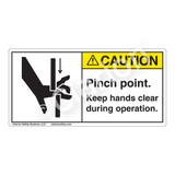 Caution/Pinch Point Label (1099-58CH)