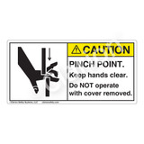 Caution/Pinch Point Label (1099-MJCH)